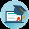 شهادة ووسام التميز للدورات - التدريب الالكتروني